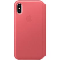 Apple Leather Folio Booktype iPhone X / Xs - Peony Pink