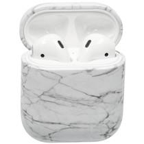 Hardcover Case voor AirPods - Wit Marmer