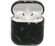 Hardcover Case AirPods - Zwart Marmer