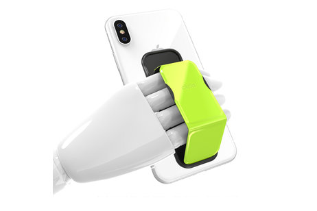 Clckr Neon Geel Universal Phone Grip