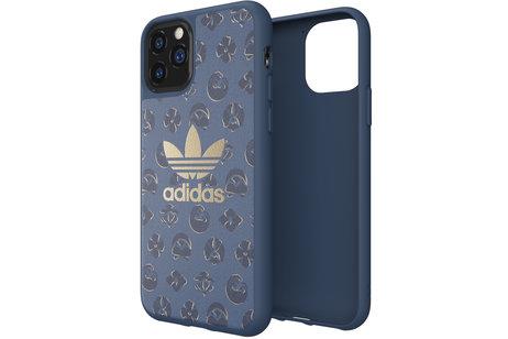 adidas Originals Basics Backcover voor de iPhone 11 Pro - Shibori Blauw