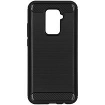 Brushed Backcover Huawei Mate 30 Lite - Zwart