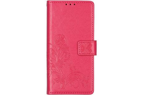 Motorola Moto E6 hoesje - Klavertje Bloemen Booktype voor
