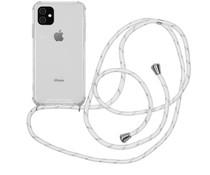 iMoshion Backcover met koord iPhone 11 - Wit Zilver