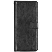 Basic Leather Booktype Motorola One Action - Zwart