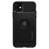 Spigen Rugged Armor Backcover iPhone 11 - Zwart