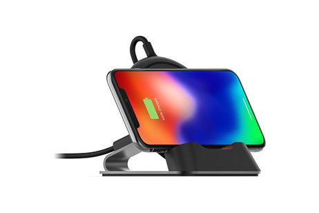 Mophie Wireless Charge Stream Desk Stand - Zwart
