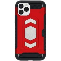iMoshion Xtreme Backcover met pashouder iPhone 11 Pro - Rood