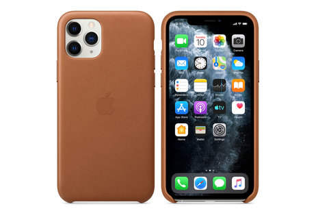 iPhone 11 Pro hoesje - Apple Leather Backcover voor