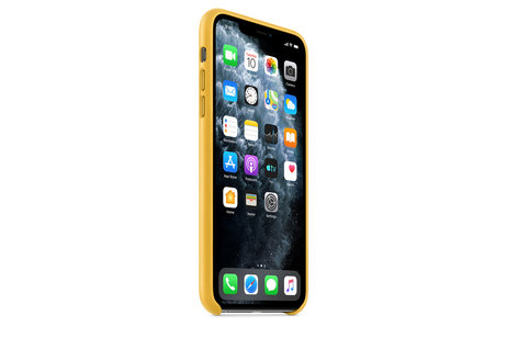 iPhone 11 Pro Max hoesje - Apple Leather Backcover voor
