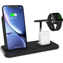 Zens Stand + Dock + Watch Wireless Charger 3 x 20W - Zwart