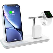 Zens Stand + Dock + Watch Wireless Charger 3 x 20W - Wit