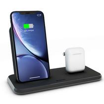 Zens Stand + Dock Aluminium Wireless Charger 2 x 20W - Zwart