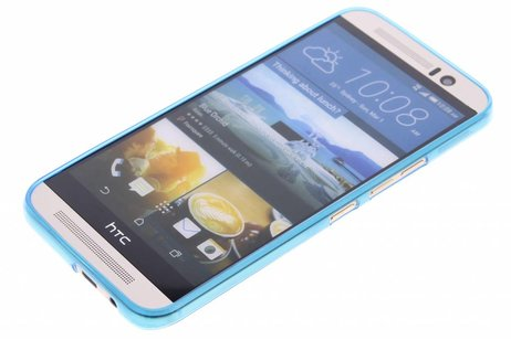 Ultra Thin Transparant Backcover voor HTC One M9 - Blauw
