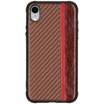 Carbon Design Backcover iPhone Xr - Bruin