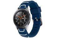 iMoshion Design Siliconen bandje voor de Samsung Galaxy Watch 46 mm - Donkerblauw