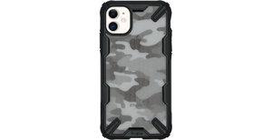 Ringke Fusion X Design Backcover iPhone 11 - Camo Zwart