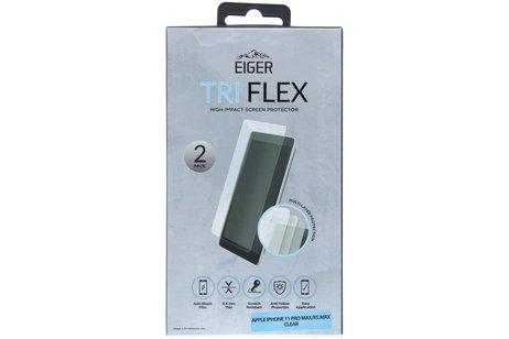 Eiger Tri Flex Screenprotector voor de iPhone 11 Pro Max / iPhone Xs Max