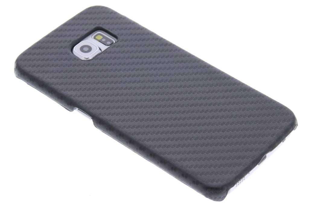Carbon Hardcase Backcover voor Samsung Galaxy S6 Edge - Zwart