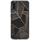 Design Backcover voor de Samsung Galaxy A50 / A30s - Grafisch Zwart / Koper