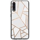 Design Backcover voor de Samsung Galaxy A50 / A30s - Grafisch Wit / Koper