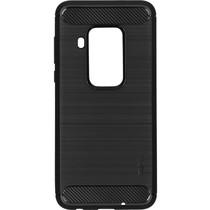 Brushed Backcover Motorola One Zoom - Zwart