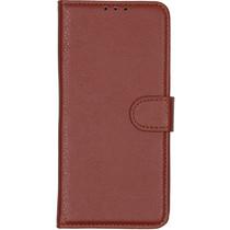 Basic Litchi Booktype Motorola Moto E6 Plus / E6s - Bruin