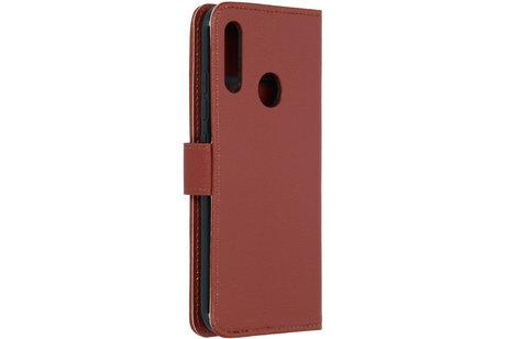 Motorola Moto E6 Plus hoesje - Basic Litchi Booktype voor