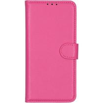 Basic Litchi Booktype Motorola Moto E6 Plus / E6s - Roze