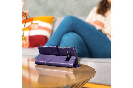 Klavertje Bloemen Booktype voor de Nokia 2.2 - Paars