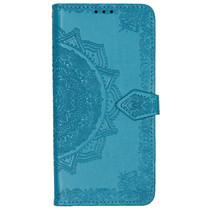 Mandala Booktype Motorola One Zoom - Turquoise