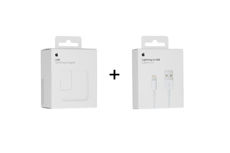 Apple Adapter 2,4A + Lightning naar USB kabel - 2 meter