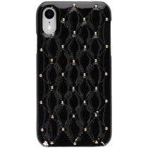 Quilted Hardcase Backcover iPhone Xr - Zwart