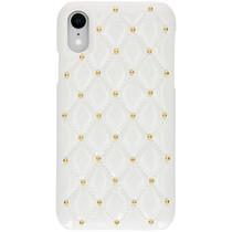Quilted Hardcase Backcover iPhone Xr - Wit