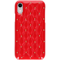 Quilted Hardcase Backcover iPhone Xr - Rood