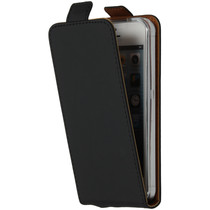 Luxe Softcase Flipcase iPhone 5 / 5s / SE - Zwart