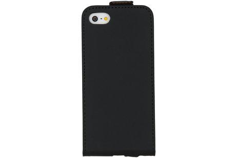Selencia Luxe Softcase Flipcase voor de iPhone 5 / 5s / SE - Zwart