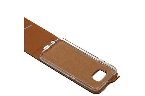 Samsung Galaxy S6 hoesje - Luxe Softcase Flipcase voor