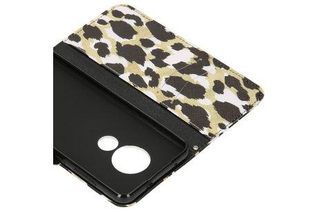 Design Softcase Booktype voor de Nokia 6.2 / Nokia 7.2 - Panter Zwart
