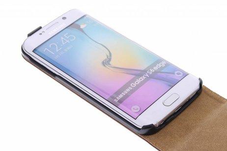 Luxe Hardcase Flipcase voor Samsung Galaxy S6 Edge - Bruin