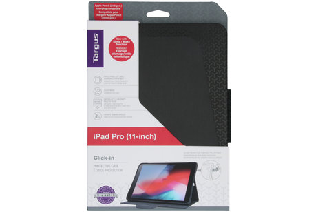 Targus Click-in Bookcase voor de iPad Pro 11 - Zwart