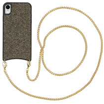 iMoshion Sparkle Backcover met ketting iPhone Xr - Goud