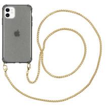 iMoshion Glitter Backcover met ketting iPhone 11 - Zwart