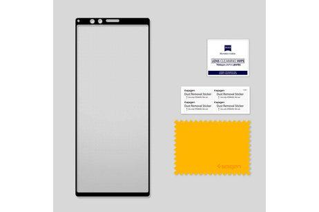 Spigen GLAStR Full Cover Screenprotector voor de Sony Xperia 1 - Zwart