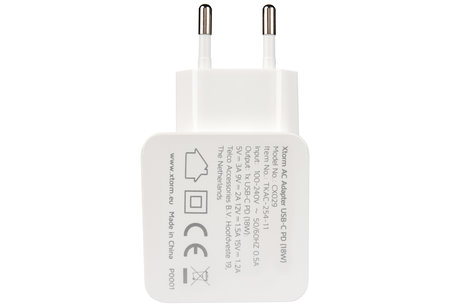 Xtorm AC Adapter USB-C Power Delivery - 18 Watt
