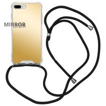 iMoshion Mirror Backcover met koord iPhone 8 Plus / 7 Plus - Goud