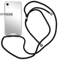 iMoshion Mirror Backcover met koord iPhone Xr - Zilver