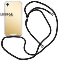 iMoshion Mirror Backcover met koord iPhone Xr - Goud