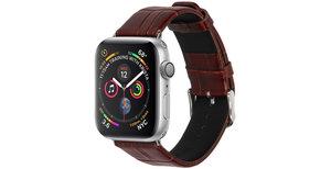 iMoshion Krokodil leder bandje Apple Watch 44 / 42 mm - Bruin