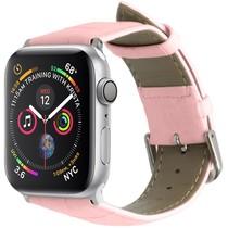 iMoshion Krokodil leder bandje Apple Watch 44 / 42 mm - Roze